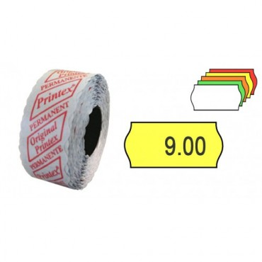 Etichete de pret autoadezive 26x12 mm, 1400 bucati x 6 role, Alb
